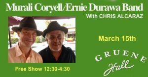 DURAWA W/ MURALI CORYELL @ Gruene Hall @ Gruene Hall | New Braunfels | Texas | United States