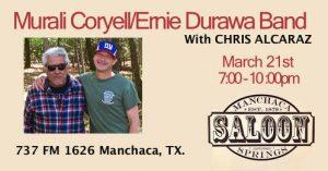Murali Coryell w/DURAWA at Manchaca Springs Saloon @ Manchaca Springs Saloon | Austin | Texas | United States